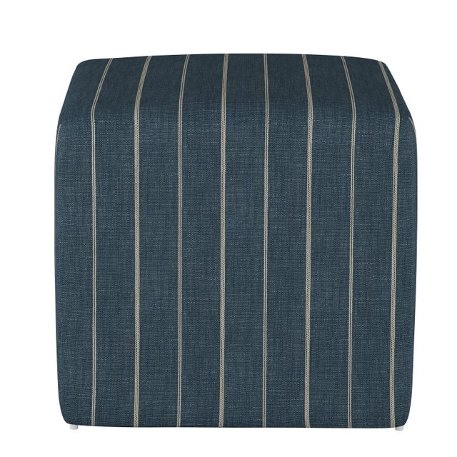 This Ottoman reinvents casual design in a bold style statement, offering a selection of crisp, cool upholstery fabrics...