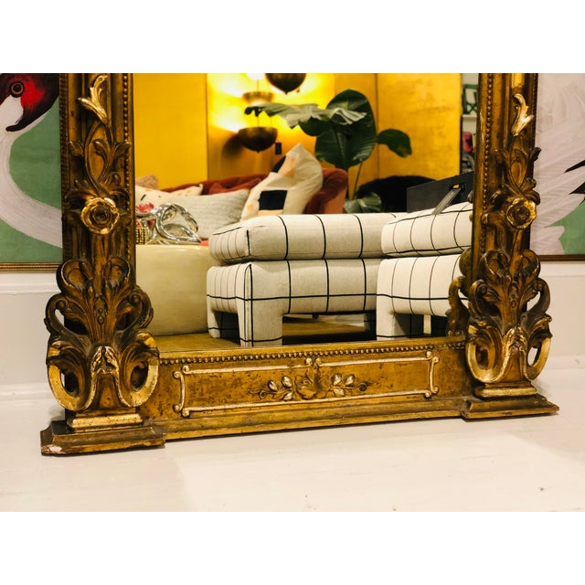 Gold Antique French Gilt Mirror For Sale - Image 8 of 10