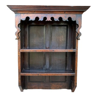 Antique English Plate Rack Wall Shelf Bookcase For Sale