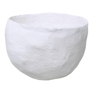 The Hugo Small Decorative Raw Plaster Bowl For Sale