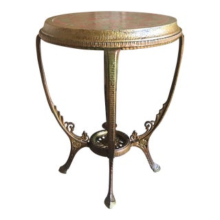 20th Century Gothic Revival Metal Side Table For Sale