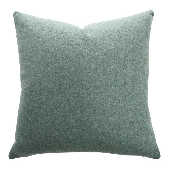 FirmaMenta Italian Sage Green Sustainable Wool Pillow - Image 1 of 9