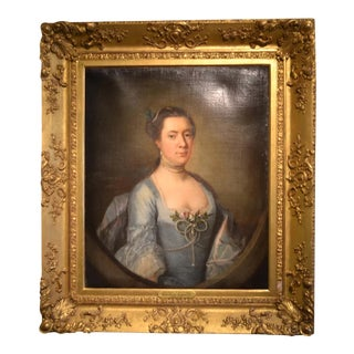Oil Portrait of Madame L' Strange For Sale