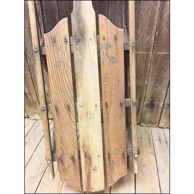 Vintage Wood & Metal Runner Sled - Image 5 of 11