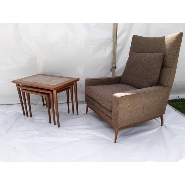 Danish Modern Mahogany and Tile Set of 3 Nesting Tables For Sale - Image 9 of 10