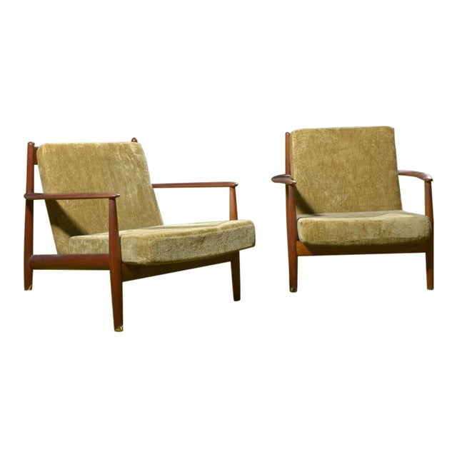 Mid-Century Danish Grete Jalk Lounge Chairs - A Pair - Image 1 of 7