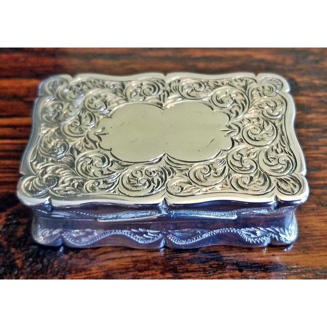 19c Sterling Silver Snuffbox Birmingham 1848 by Rolason Bros For Sale - Image 13 of 13