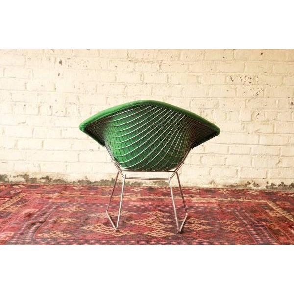 Chrome Green Diamond Chair by Harry Bertoia for Knoll For Sale - Image 7 of 8
