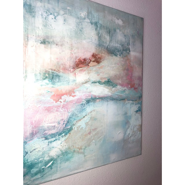 2020s Contemporary Abstract Expressionist Pastel Acrylic Painting For Sale - Image 5 of 8