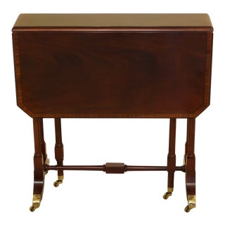 Baker Drop Leaf Mahogany Occasional Table For Sale