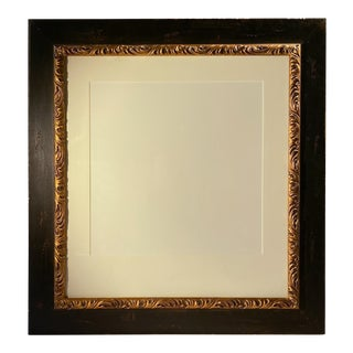 Vintage Gold-Leaf Wood Picture Frame For Sale
