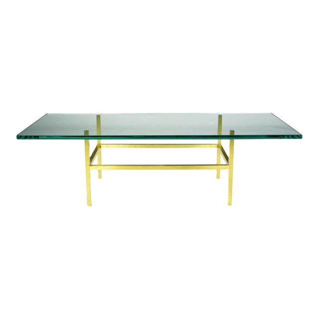 Solid Brass Square Bar Coffee Table After Dunbar - Image 1 of 4