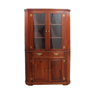 Mastercraft Corner Display Cabinet For Sale
