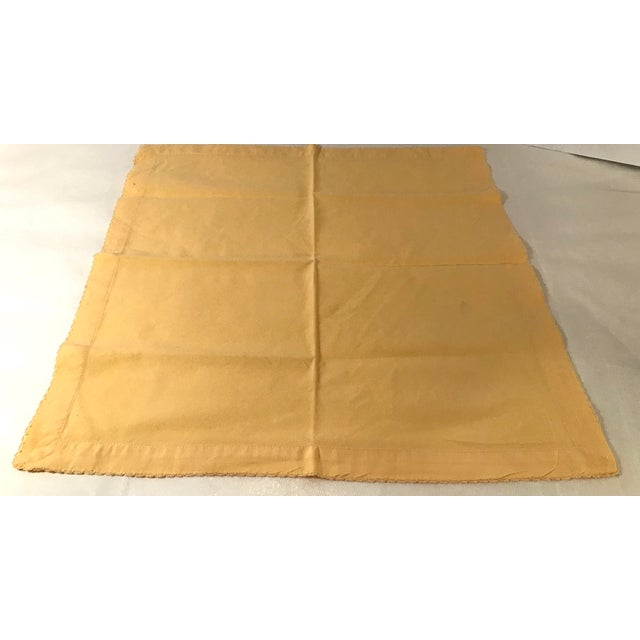 Vintage Yellow Dinner Napkins - Set of 4 For Sale - Image 4 of 8