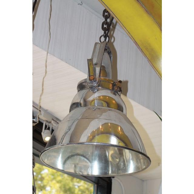 Vintage Industrial Aluminum & Steel Pendant Lamp - Image 10 of 10