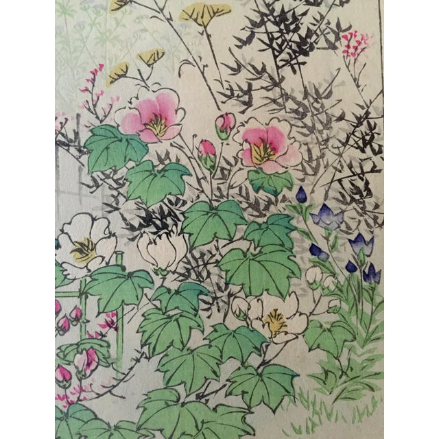 Japanese Autumn Flowers Wood Block Print - Image 5 of 5
