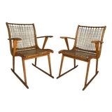 Image of Vermont Tubbs Wood Armchairs - A Pair For Sale