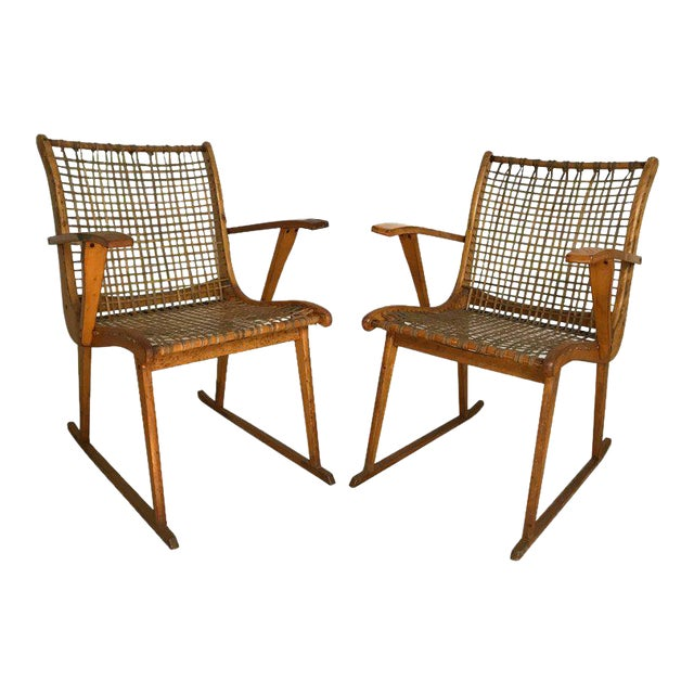 Vermont Tubbs Wood Armchairs A Pair Chairish
