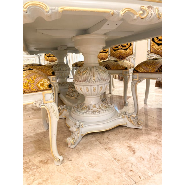 2010s Rococo Italian Dining Set - 11 Pieces For Sale - Image 5 of 13