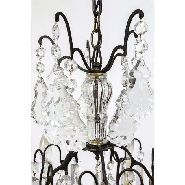 Black Multi Crystal Birdcage Chandeliers - a Pair For Sale - Image 8 of 13
