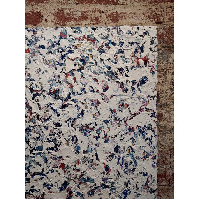Ellie Riley Contemporary Abstract in White Acrylic Painting For Sale - Image 4 of 10