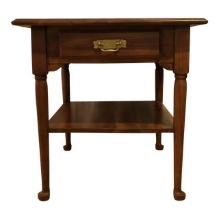 1940s American Classical Harden Solid Cherry End Table For Sale