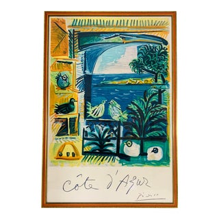 1962 Pablo Picasso Côte d'Azur Lithographic Poster For Sale