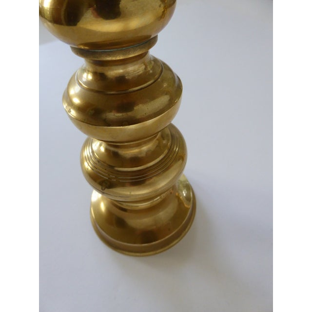Brass VintageHoliday Christmas Brass Candle Holders - a Pair For Sale - Image 7 of 10