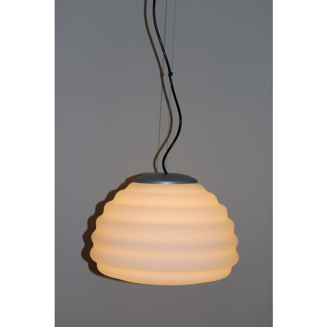 Itre Mid-Century Modern Murano Glass Pendant Lamp For Sale - Image 4 of 12