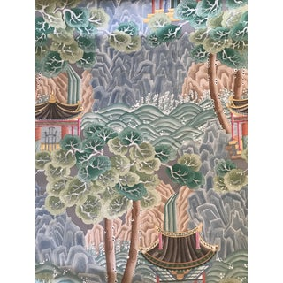 """Chinoiserie Clarence House Hand Printed """"Miramar"""" Fabric - 6 Yards Preview"""