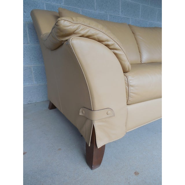 "NATUZZI Italian Leather Sofa 86""W - Image 5 of 9"