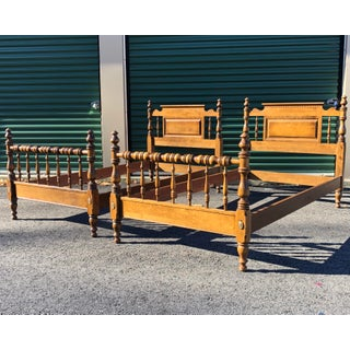 Ethan Allen Traditional Maple Twin Beds- a Pair Preview