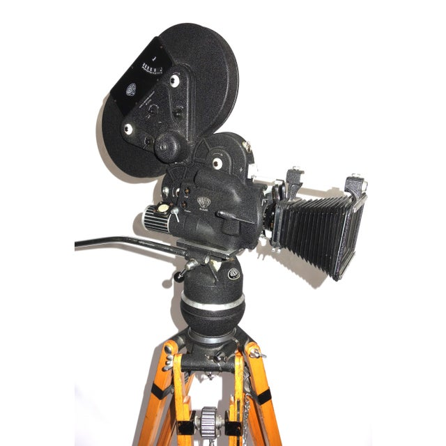 Art Deco Arriflex Early 16mm Motion Picture Camera. Pristine Factory Correct Tripod. ON SALE For Sale - Image 3 of 11