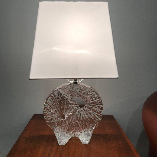 1960 Daum Crystal French Table Lamp For Sale - Image 9 of 11