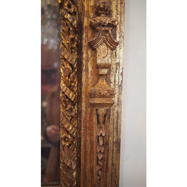 Giltwood 17th Century Italian Giltwood Mirror For Sale - Image 7 of 7