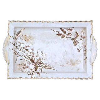 Antique Transferware Wildflower Tray For Sale