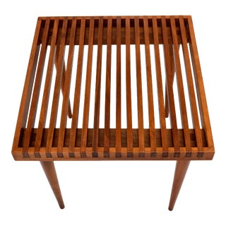 Mel Smilow Slat End or Side Table For Sale