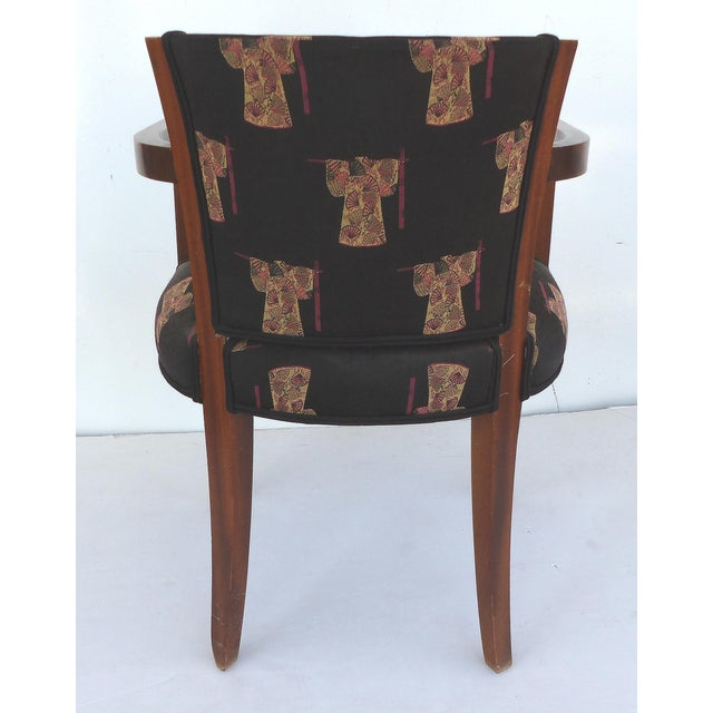 French Art Deco Arm Chairs - A Pair For Sale - Image 7 of 11