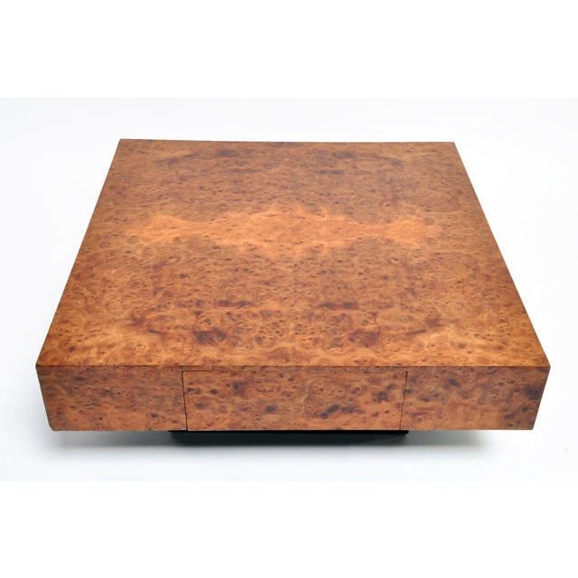 French Burl Wood Table With Two Drawers For Sale In Chicago - Image 6 of 13