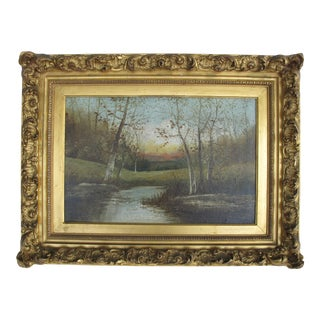 Autumn Scene Oil Painting on Canvas For Sale