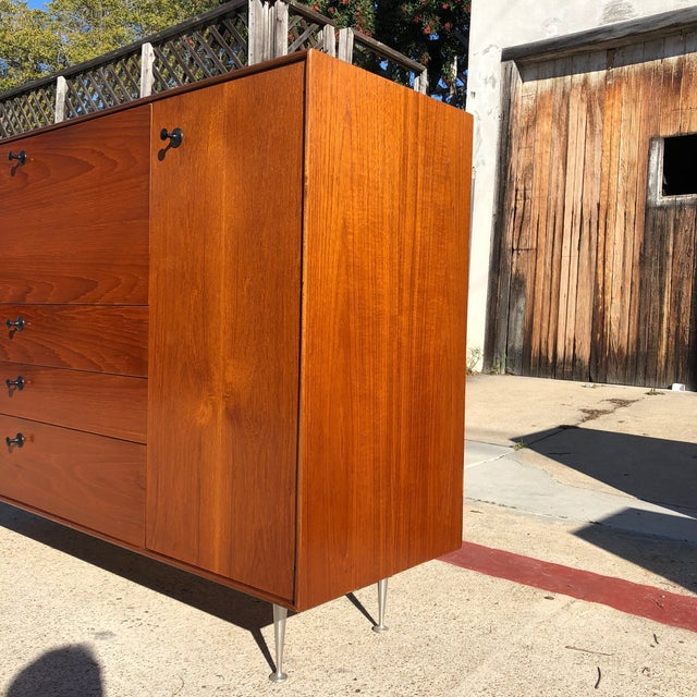 Brown 1960s Mid Century Modern George Nelson Herman Miller Thin Edge Secretary Desk For Sale - Image 8 of 13