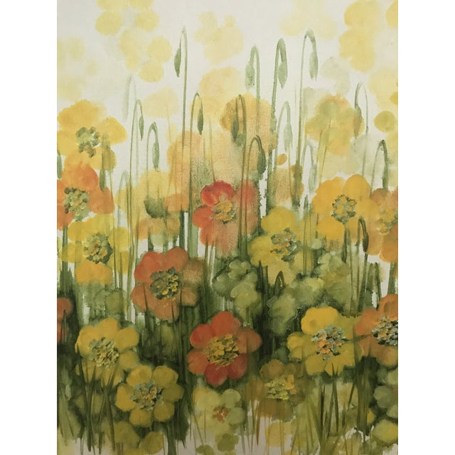 Contemporary Vintage Mid-Century Large Floral Oil Painting For Sale - Image 3 of 8