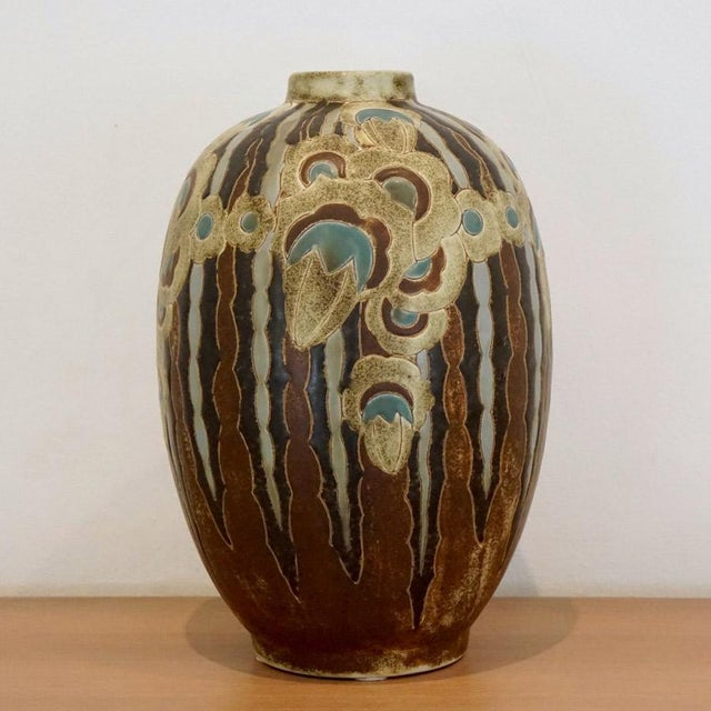 "This listing is for a Charles Catteau vase, Purchased From: ""The Collection of Melva Bucksbaum"" D. 1127 Always on the..."