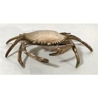 20th Century Figurative Brass Crab Trinket Box Preview