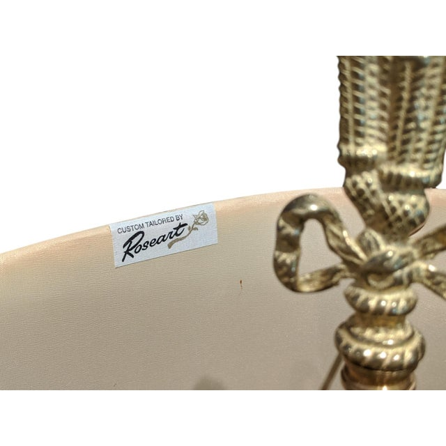 19th Century French Ormolu Chenet Lamps With Shades - a Pair For Sale - Image 12 of 13