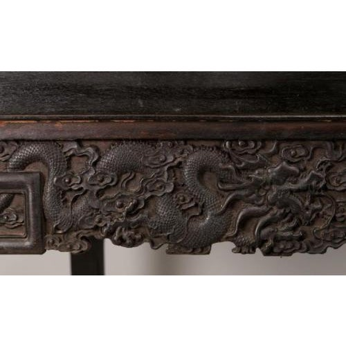 Antique Chinese Handmade Zitan Dragon Table For Sale - Image 10 of 11