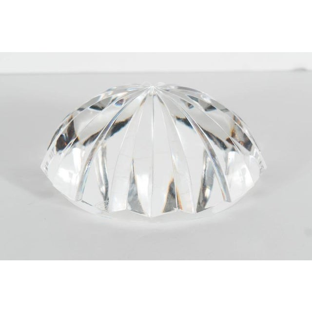 Modern Baccarat Radial Faceted Paperweight or Objet D'Art For Sale - Image 3 of 7