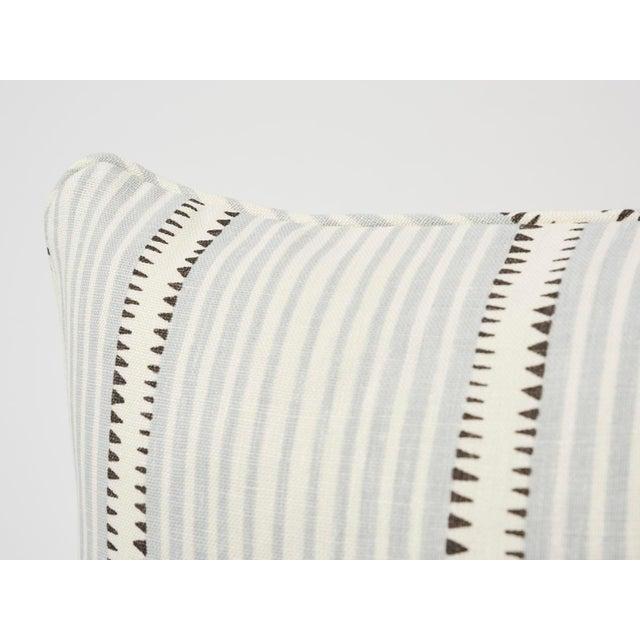 Schumacher Schumacher Double-Sided Pillow in Moncorvo Stripe Linen Print For Sale - Image 4 of 7