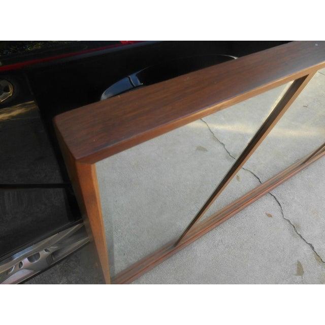 Mid-Century Modern Triple Beveled Dresser Mirror - Image 5 of 5