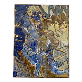 1980s Abstract Mixed Media by Ilene Steglitz For Sale